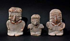 184: Set of 3 Seated Chupicuaro Flat Figures Published
