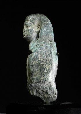 01: A Rare Egyptian Gray Graywacke Osirus Figure
