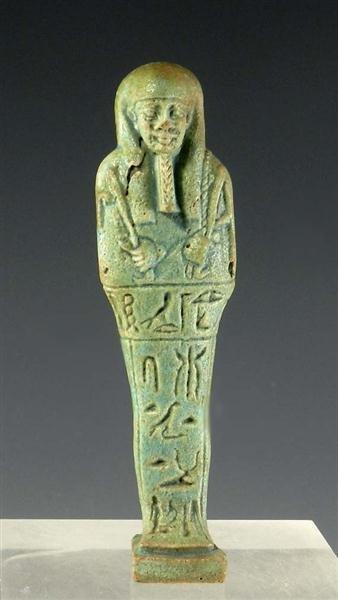 10A: An Egyptian 26th Dynasty Faience Ushabti.