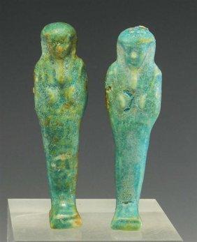 10B: A Pair of Egyptian Late Dynastic Ushabtis