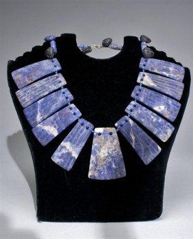 A Pre-Columbian Chavin Sodalite Necklace