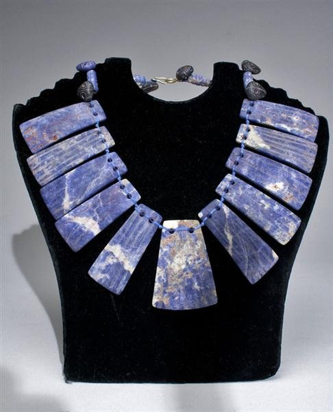 1: A Pre-Columbian Chavin Sodalite Necklace