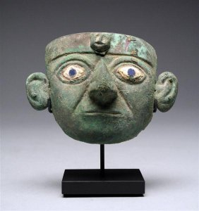 2: A Moche Copper and Shell Mask, Ex-Sonin