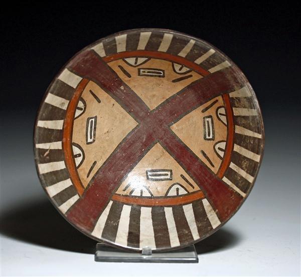 8: A Nazca Polychrome Face Bowl