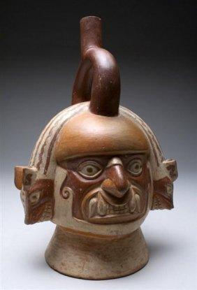 A Moche Ai Apec Stirrup Jar - A Masterpiece!