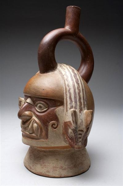 12: A Moche Ai Apec Stirrup Jar - A Masterpiece! - 3