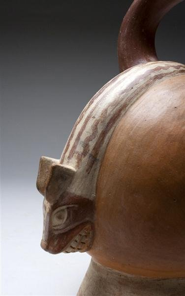 12: A Moche Ai Apec Stirrup Jar - A Masterpiece! - 5