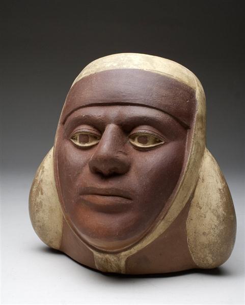 15: A Very Fine/ Realistic Moche Portrait Jar