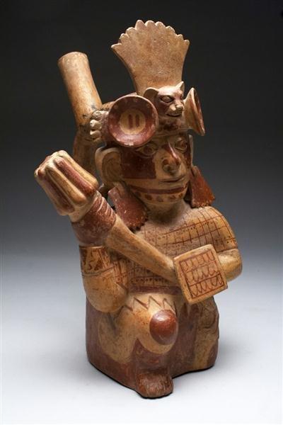 16: A Pre-Columbian Moche Figural Janus Jar