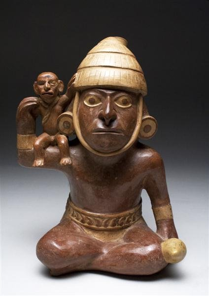 17: Moche Stirrup Vessel Warrior and Captive, TL Tested