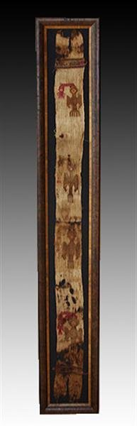 A Framed Pre-Columbian Textile Panel