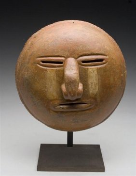 An Important Calima Sun Mask With Tears, Malagan
