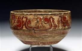 65 A Delightfully Painted Maya Copador Bowl