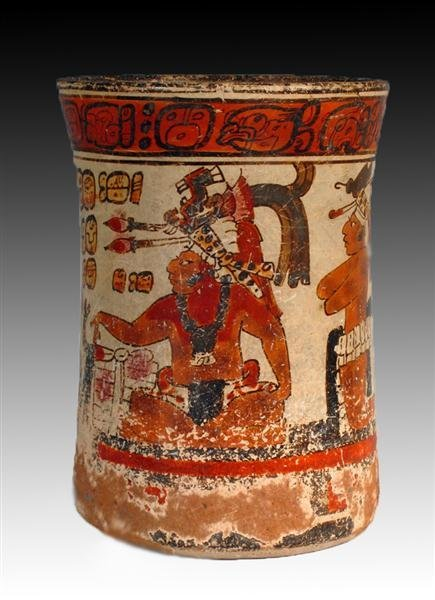 51D: Superb Pre-Columbian Mayan Cylinder, ex-Christie's