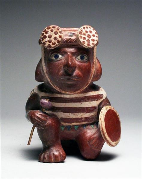 7A: Moche II Kneeling Warrior Stirrup - A Masterpiece!