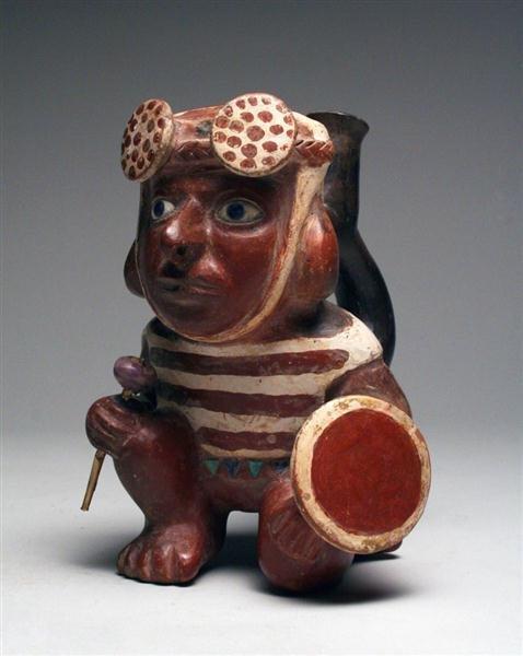 7A: Moche II Kneeling Warrior Stirrup - A Masterpiece! - 2