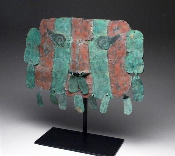 28A: A Lambayeque / Sican Copper Mask w/ Danglers - 2