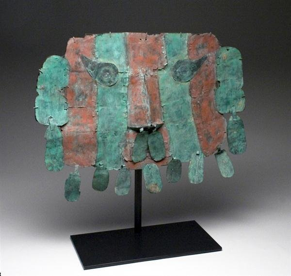 28A: A Lambayeque / Sican Copper Mask w/ Danglers - 3