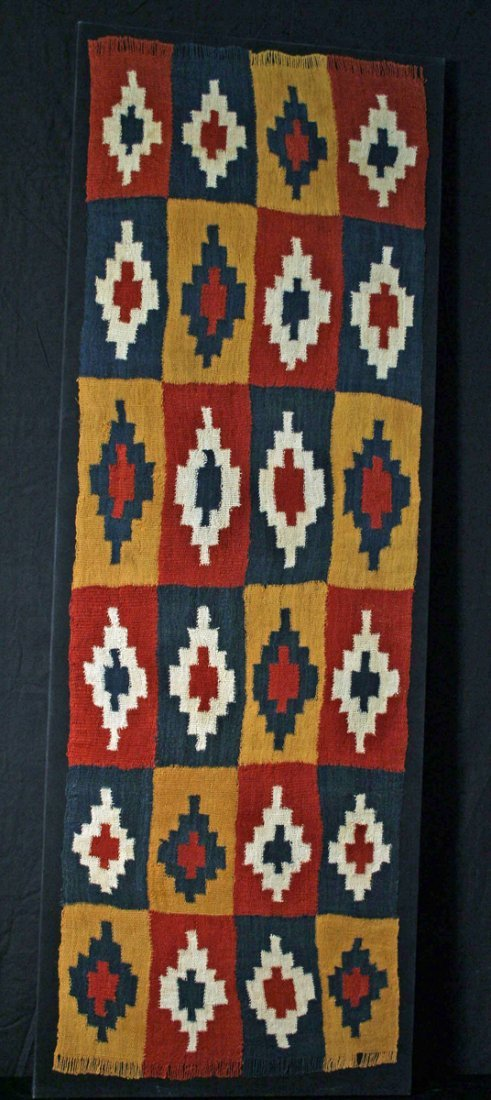 1B: An Exceptional Nazca Textile Shawl, Ex-Christie's