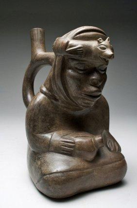 10A: A Moche III Sitting Lord Stirrup Vessel