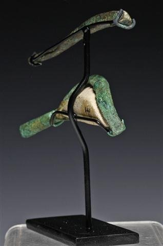 An Egyptian Bronze Sarcophagus Eye / Brow - 3