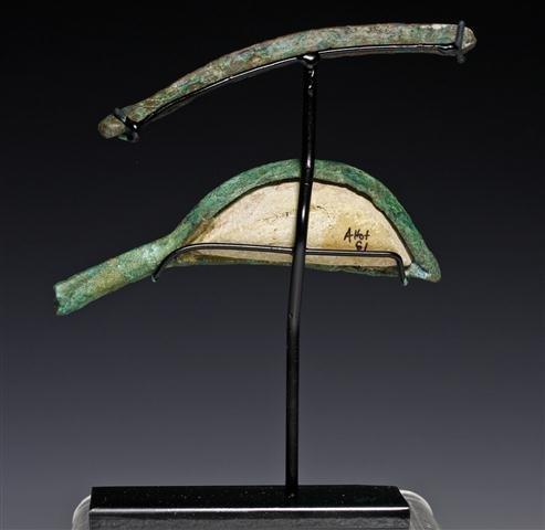 An Egyptian Bronze Sarcophagus Eye / Brow - 4