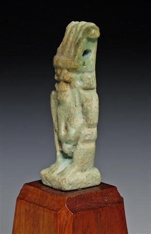 An Egyptian Faience Amulet of Bes - 4