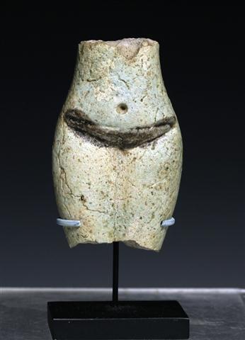 An Egyptian Faience Torso of a Concubine
