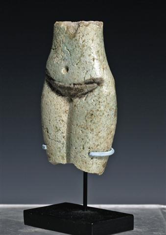 An Egyptian Faience Torso of a Concubine - 4
