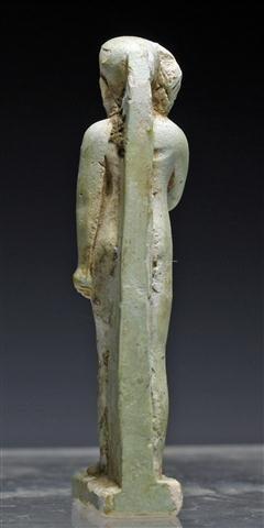 An Egyptian Faience Striding Horus Amulet - 5
