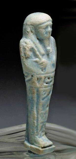 An Egyptian Late Kingdom Faience Ushabti