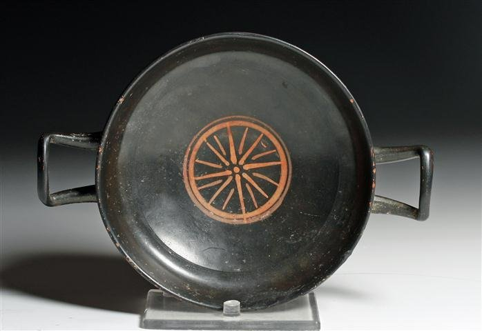 A Greek South Italic Kylix with Painted Design
