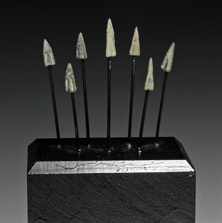 A Group of 7 Greek Bronze Arrowheads
