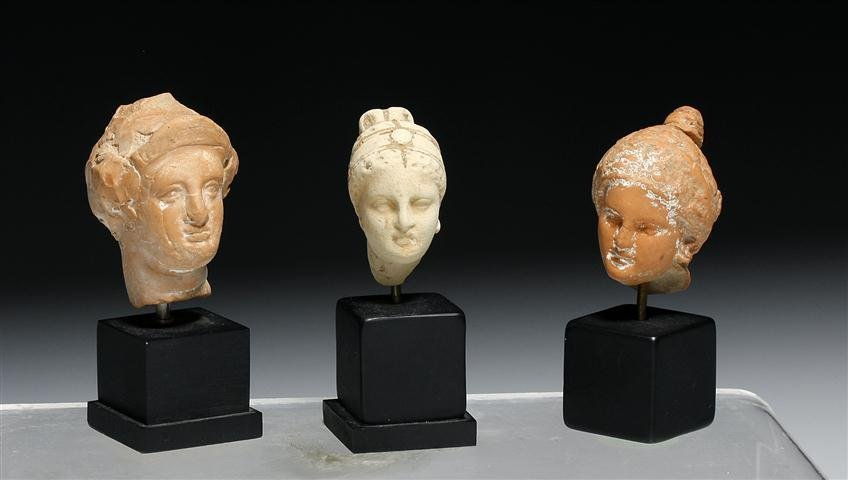 A Set of 3 Hellenistic Greek Female Heads