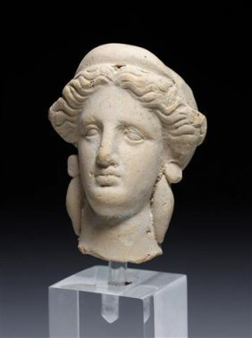 A Greek Hellenistic Terracotta Head Of A Female
