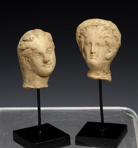 A Pair of Greek Hellenistic Heads