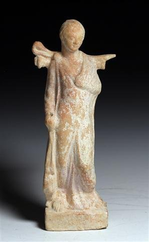 A Roman Terracotta Winged Youth Figure