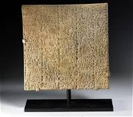 A Translated Sumerian Cuneiform Tablet UR III - HUGE!
