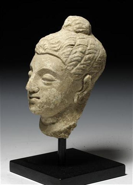 A Large Gandharan Buddha Head