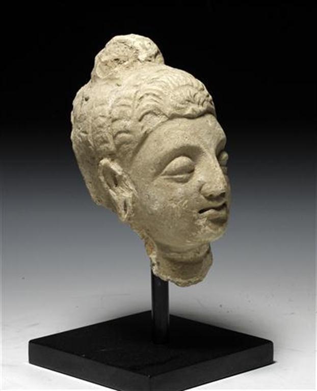 A Large Gandharan Buddha Head - 4
