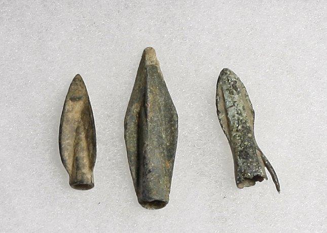 Set of 3 Graeco Scythian Bronze Arrowheads