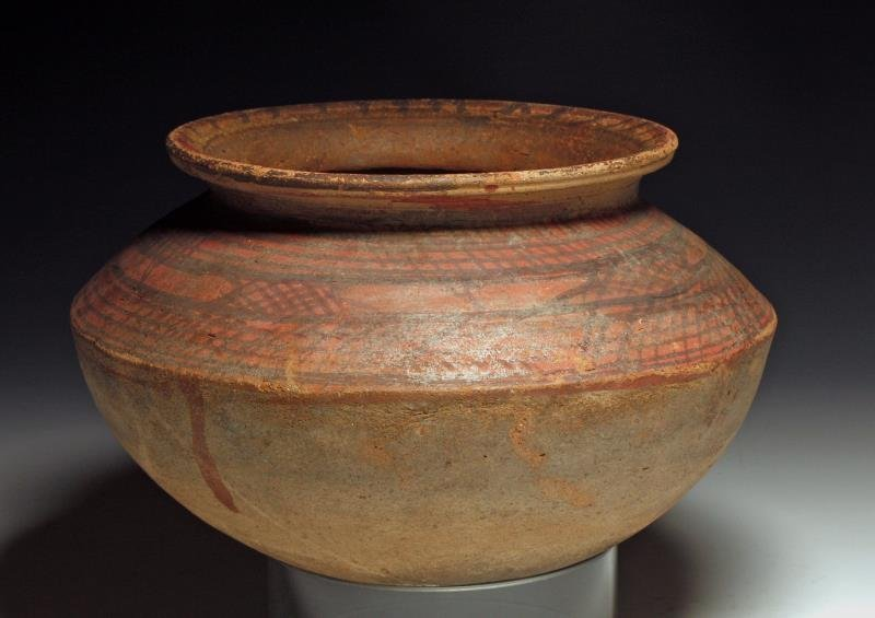Chinese Neolithic Period Saucer-Shaped Vessel