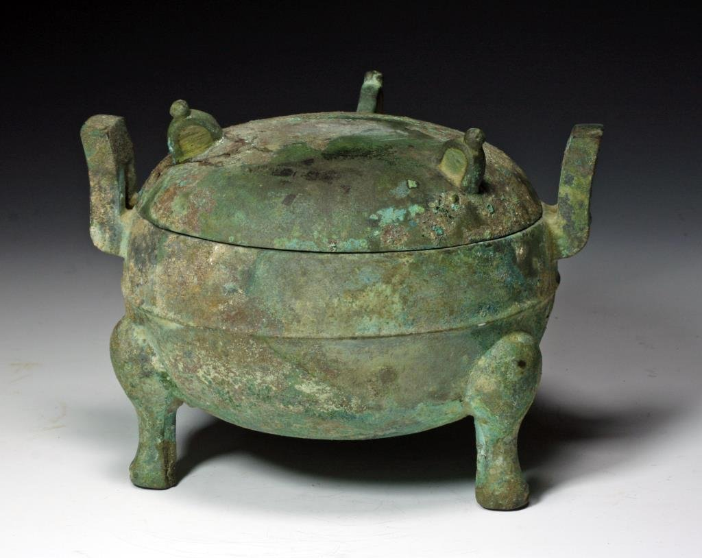 Ancient Chinese Eastern Zhou Bronze Ding
