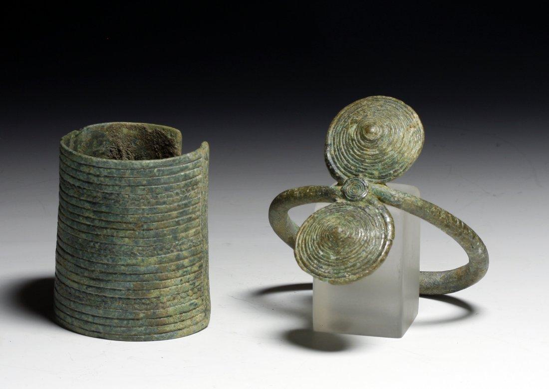 A Pair of Dong Son Bronze Bracelets
