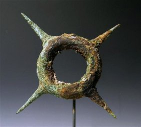 Ban Chiang Bronze Bracelet / Ring with Spikes