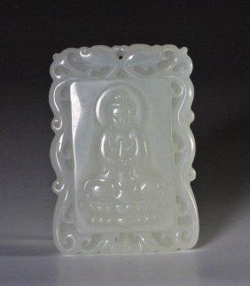Chinese Qing Dynasty Jade Pendant – Buddha