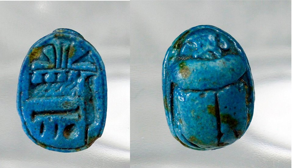 Published Egyptian Scarab in Brilliant Blue