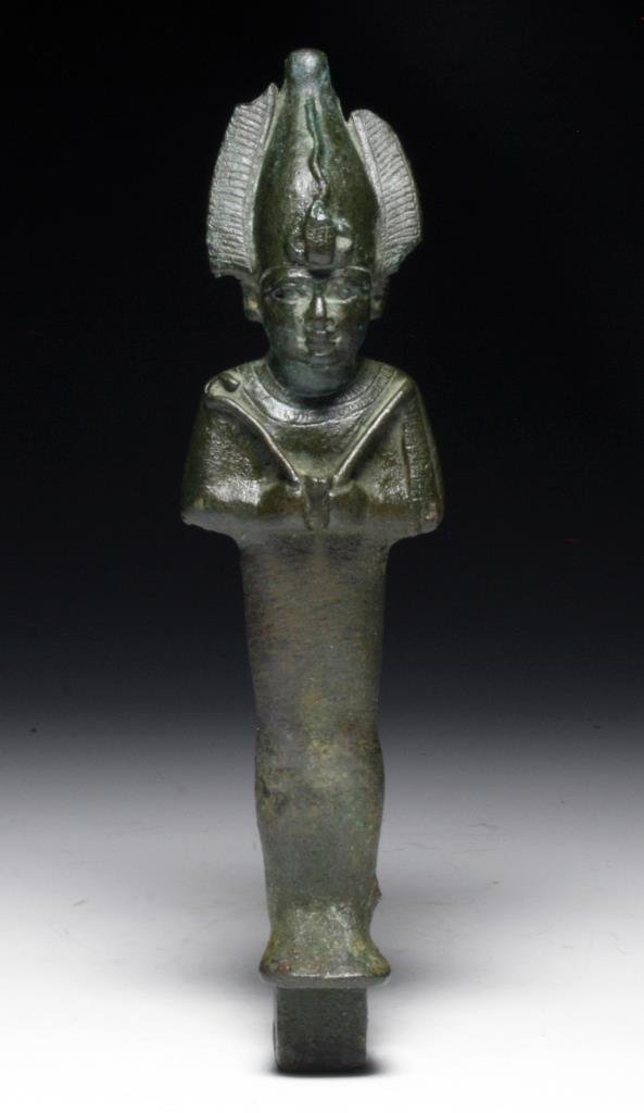 "Egyptian Bronze Osiris Figure 8""H"