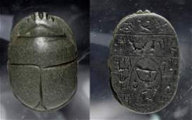 Published Egyptian Schist Heart Scarab, ex-Christie's