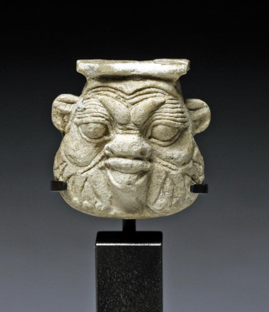 Egyptian Bes Stone Figure, ex-Jacques Billen